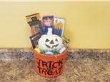 Pumpkin Halloween Gift Bucket - Rocky Mountain Chocolate Apple Of Your Choice Included!