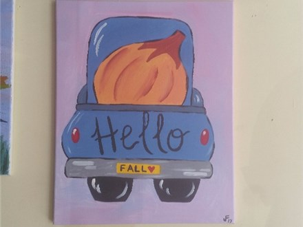 """""""Hello, Fall!"""" Canvas on Sunday, October 15th 1-3pm"""