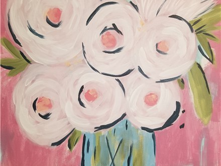 Paint Your Own Canvas Pack - Abstract Peonies