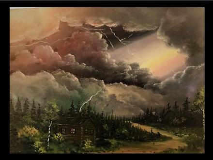 "11/02 GA-Oil: ""Thunderstorm Approaching""  10 AM $45"