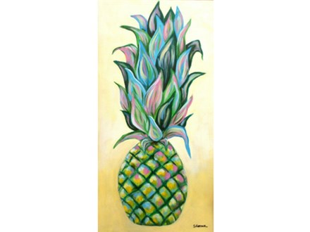 Colorful Pineapple - 10x20 canvas