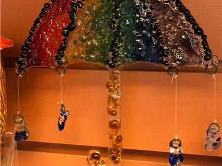 Kid's Fused Glass - Rainbow Umbrella - Afternoon Session - 04.11.18