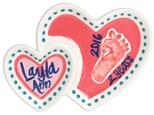 Mommy & Me Heart Plate Feb. 10