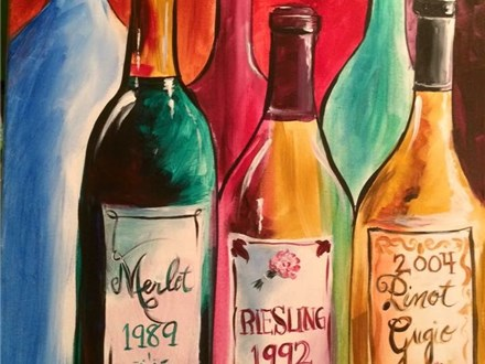 "Canvas Night ""Wine"" Saturday, January 14th 7-10pm"