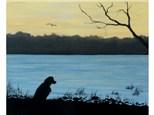 Savannah River Dog - 16x20 canvas