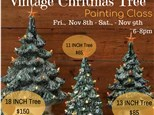 Vintage Christmas Tree Painting Class: Session 2 Nov 9th