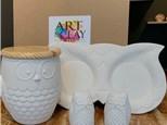 PoGo Kits: Paint Your Own Pottery ToGo! (Hooooo's Bored)