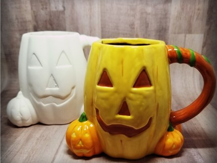 Jack O Lantern Mug - Ready to Paint