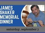 Ticket to James Shaker Memorial Dinner