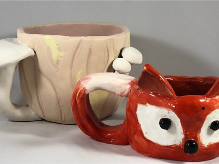 Family Clay - Mushroom or Fox Mug - 11.18.18