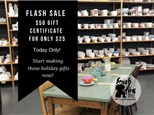FLASH SALE $50 Gift Certificate for $25!