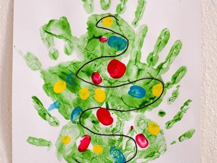 "Making Memories: ""Christmas Tree, Reindeer, or Menorah Handprint"" - Monday, December 7th, all day"