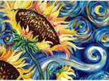 Van Gogh Sunflower - Canvas - Paint and Sip