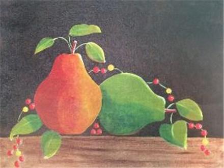 Canvas & Wine Night!  Pears & Bittersweet!  12/1/16
