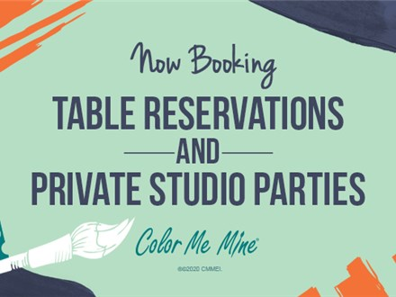 TABLE RESERVATION - COLOR ME MINE TORRANCE
