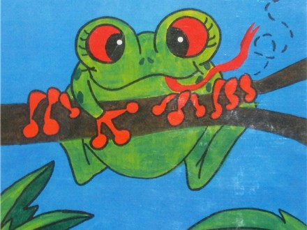 "Saturday Morning 8/26  930am-1100am ""FRIENDLY FROG"" Family Canvas Painting PLEASE READ DESCRIPTI"