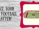 Ceramic - Football Plate or Platter