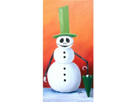 Snowman Jack - 10x20 canvas  **option to change design for snowman face and arms.