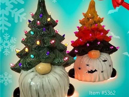 "14"" Light Up Gnome Tree"