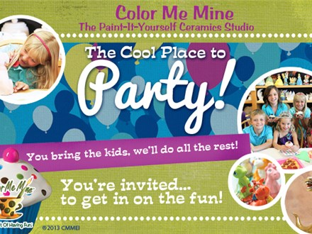 Basic Pottery Painting Party at COLOR ME MINE - MILL CREEK