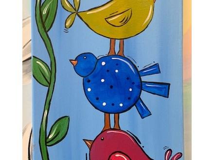 Summer Is here - Bird Canvas - June 22nd