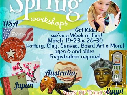 Spring Workshop: Art Around the World - Week of March 19 & 26