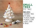 "Light Up Christmas Tree- 9.5"" Tree (SMALL)"