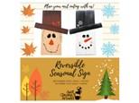 Reversible Seasonal Sign 10/13