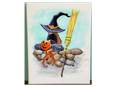 Witch Girl Paint Class