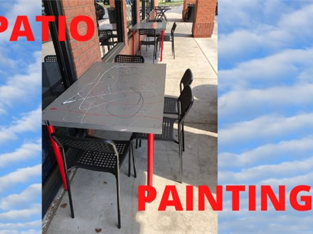 Morning Patio Painting