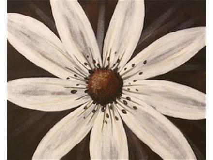 Canvas & Wine Night! White Daisy! 3/30/17