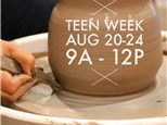 Teen Week: Pottery Wheel & Clay Handbuilding Summer Camp