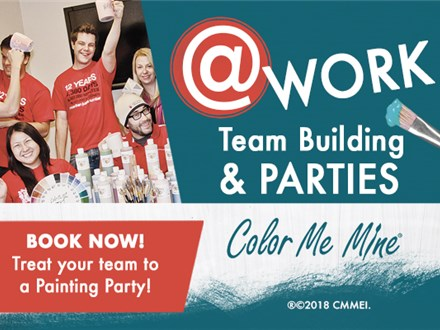 Team Building at Color Me Mine Studio