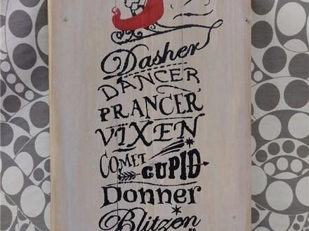 Board Art - Reindeer Names - 12.20.17