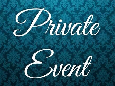 Private Event- No Class