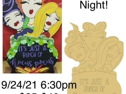 Hocus Pocus Board Art Night - September 24th