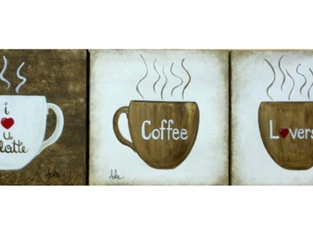 Coffee Lovers - paint your choice design - add any message.