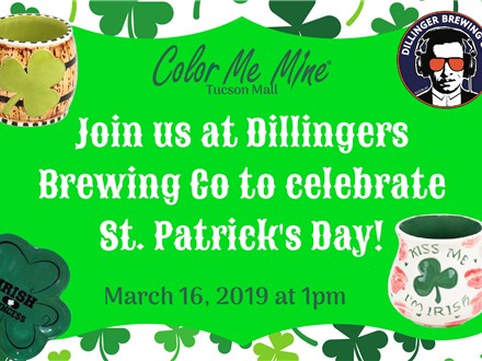St Patrick's Day Painting at Dillingers: March 16th @ 1pm