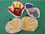 Autumn Handprint Ornaments at KILN CREATIONS