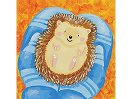 Kid's Canvas - Holding Hedgehog - Afternoon Session - 12.19.18