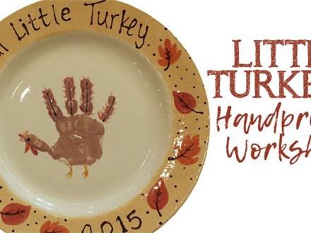Little Turkey Handprint Plate Workshop - November 3
