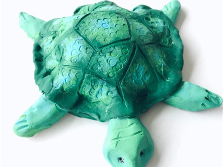 DIY Clay Turtle