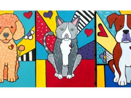 Paint your pet POP art style - 12x16 canvas