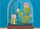"""Cactus Cloche"" Canvas Class, September 14th"