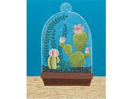 """Cactus Cloche"" Canvas Class, March 9th"
