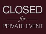 Private Event - (No Class, Nov. 12)