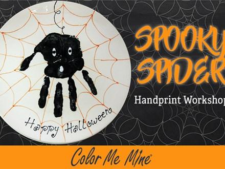 Spooky Spider Handprint Plate Workshop - October 2