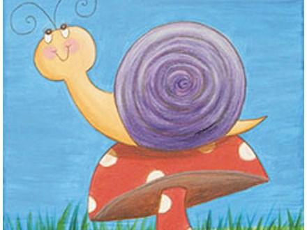 "Canvas & Cones ""Snail on Mushroom"""