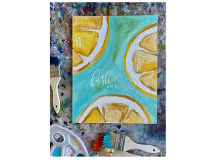 Lemon Slices VIRTUAL Paint Class