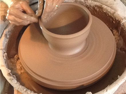 WHEELY FUN- 1 hr Pottery wheel class @ Elements Clay Studio MARCH 3RD  3;30-4:30